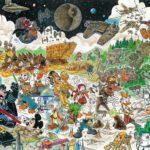 Umberto Sacchelli: Commission - Paper Star - piu soggetti - sfondo complesso