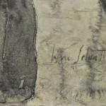 Lino Selvatico: Donna che cuce - la firma