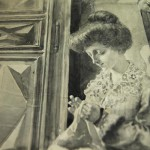 Lino Selvatico: Donna che cuce - Particolare